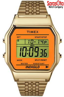 Timex T2P65100 Digital Gold Tone Stainless Steel Expansion Men's Watch