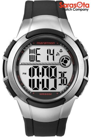 Timex T5K770 Marathon Digital Black/Silver Resin WR50 M Sport Men's Watch