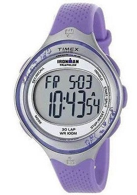 Timex T5K603 Ironman Triathlon 30-Lap Resin Band Digital Women's Sport Watch