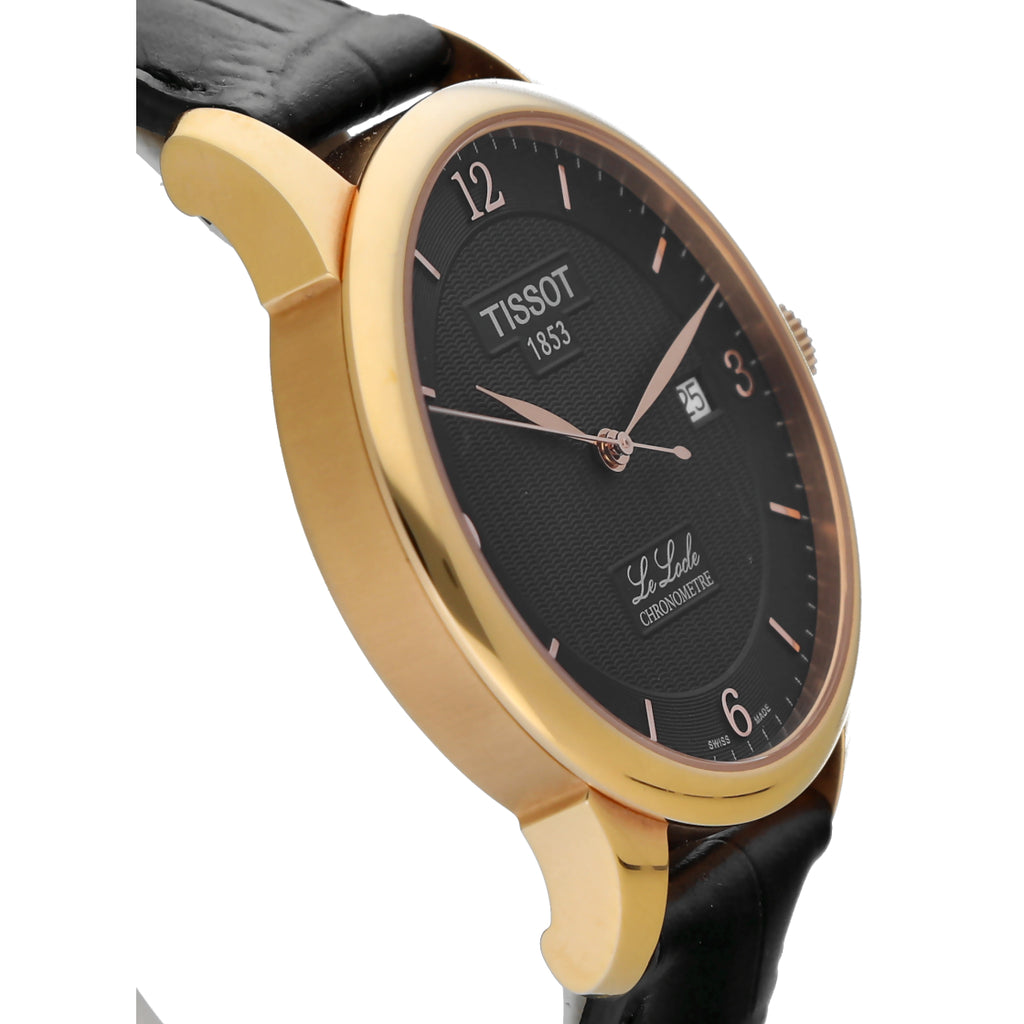 Tissot T006.408.36.05.700 Le Locle Rose Gold 39mm Leather Automatic Men's Watch