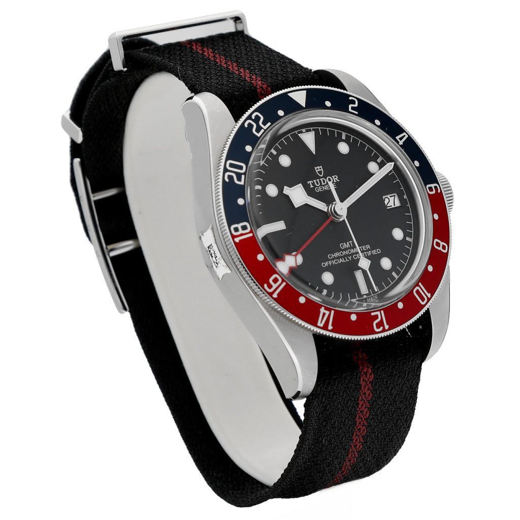 NEW! Tudor Black Bay GMT 79830RB Heritage Pepsi 41mm Nato Automatic Men's Watch