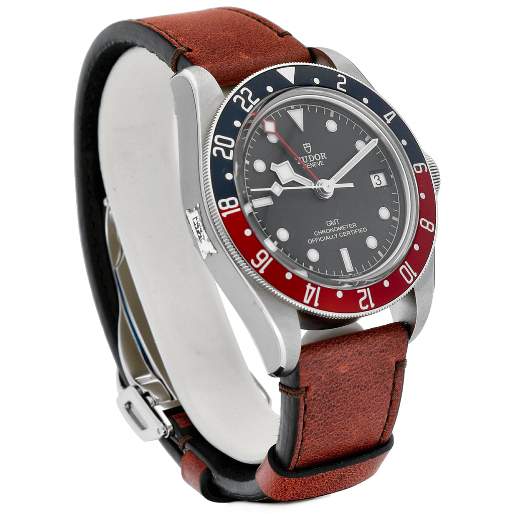 Tudor Black Bay GMT 79830RB Heritage Pepsi 41mm Leather Automatic Men's Watch