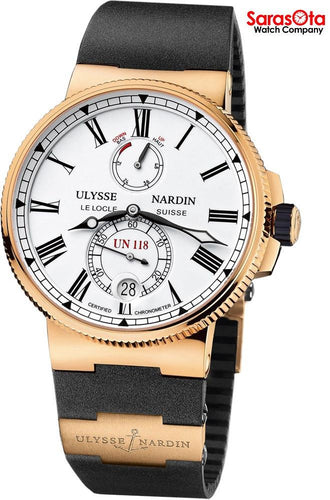 Ulysse Nardin Marine Chronometer 1186-122-3/40 18K Rose Gold Automatic Men's Watch