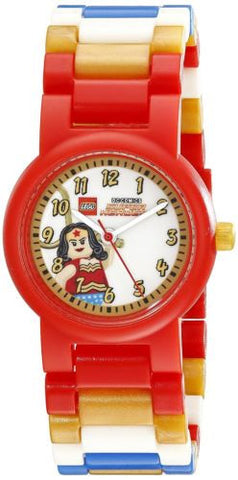 Lego 8020271 Superheroes Wonder Woman w/Figurine Plastic Kid's Watch