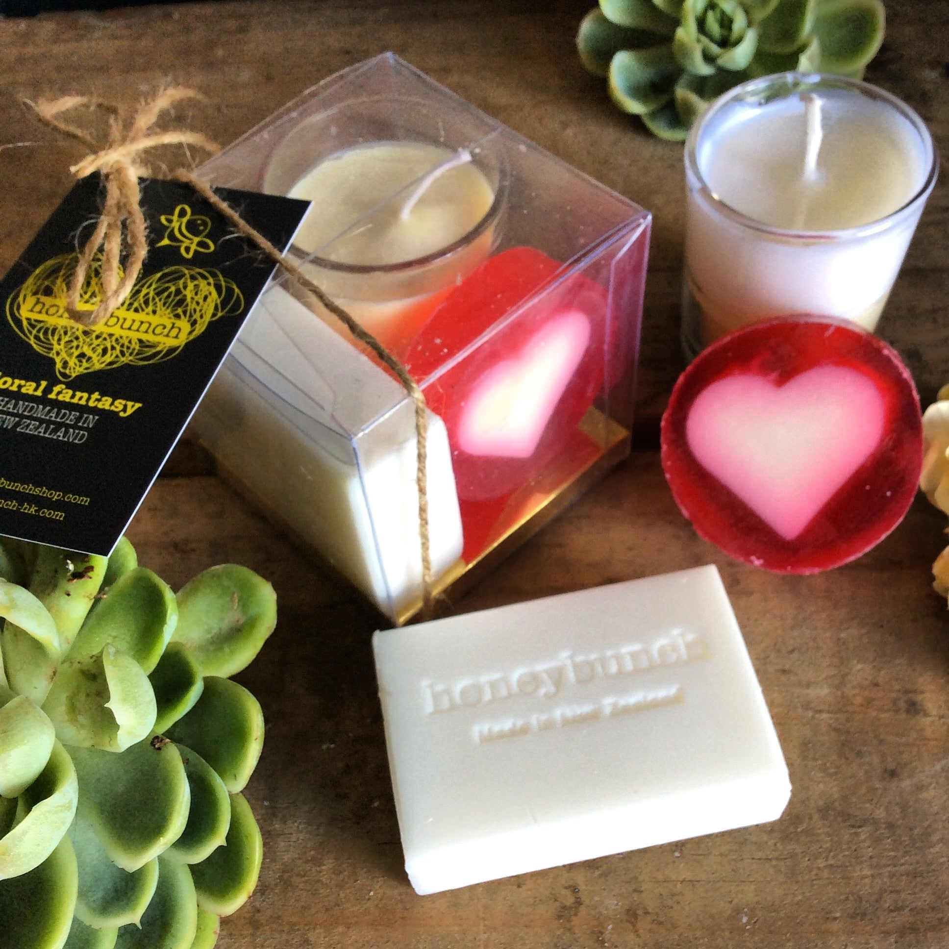 Mini moment soap, candle and love treat