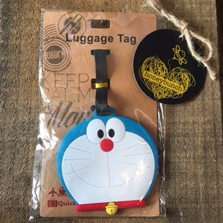 Blue cat Luggage Tag