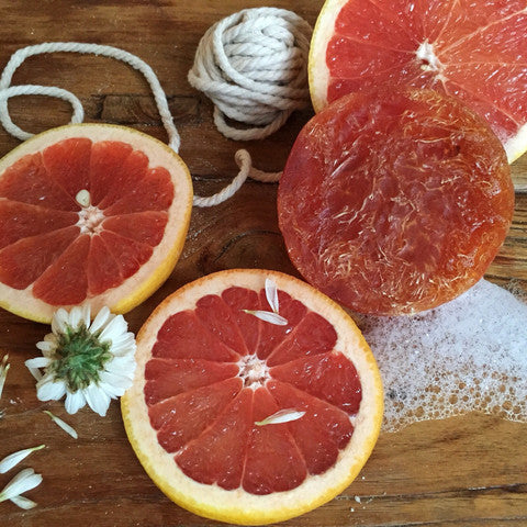 Revive Grapefruit, Manuka Honey Loofah Soap