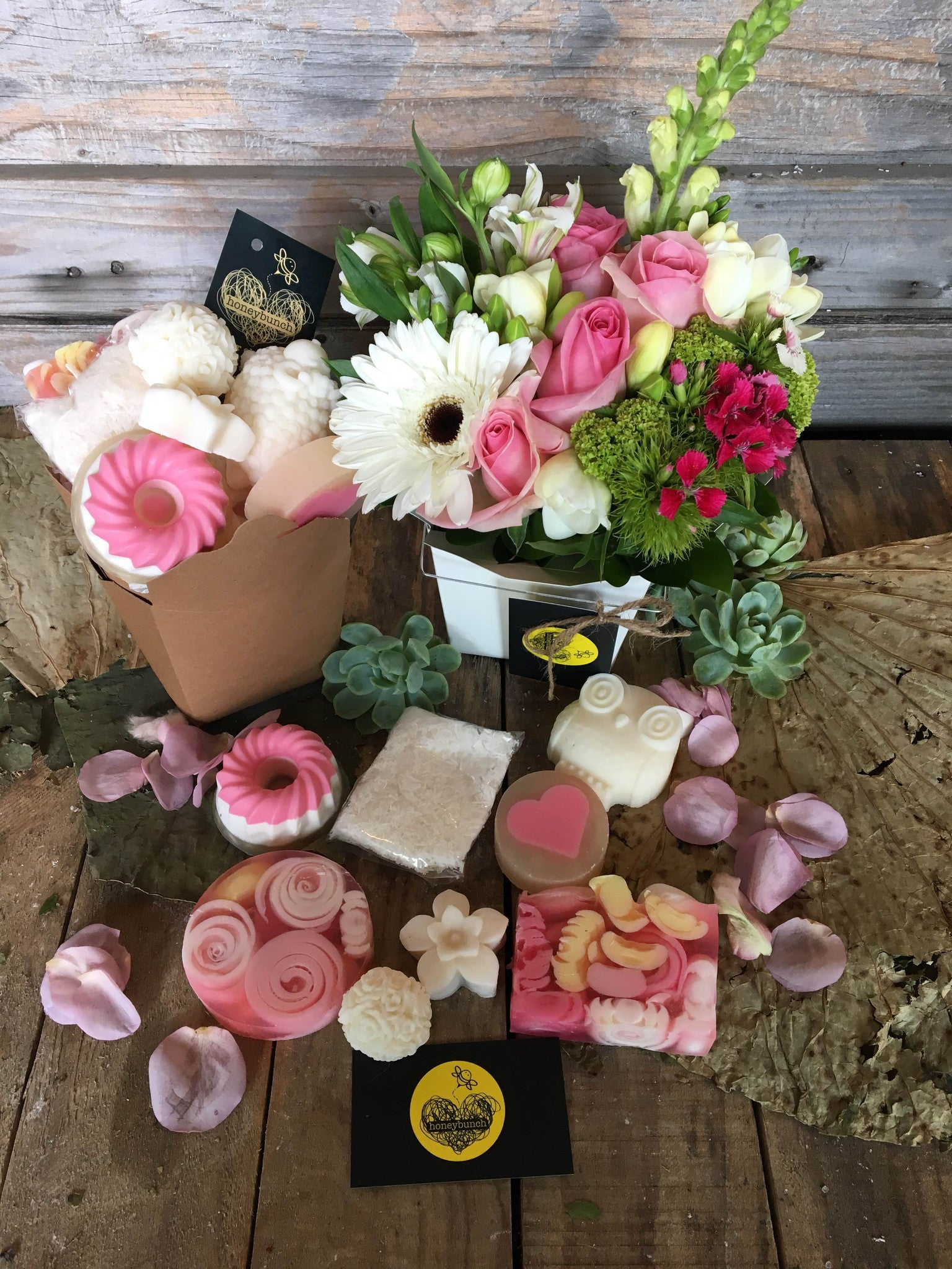 Summer Chardonnay flower pamper hamper