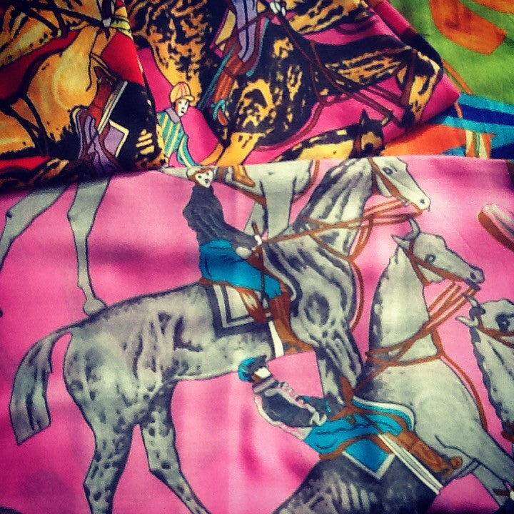 Pashmina.... One off selection ... Race horses and jockey