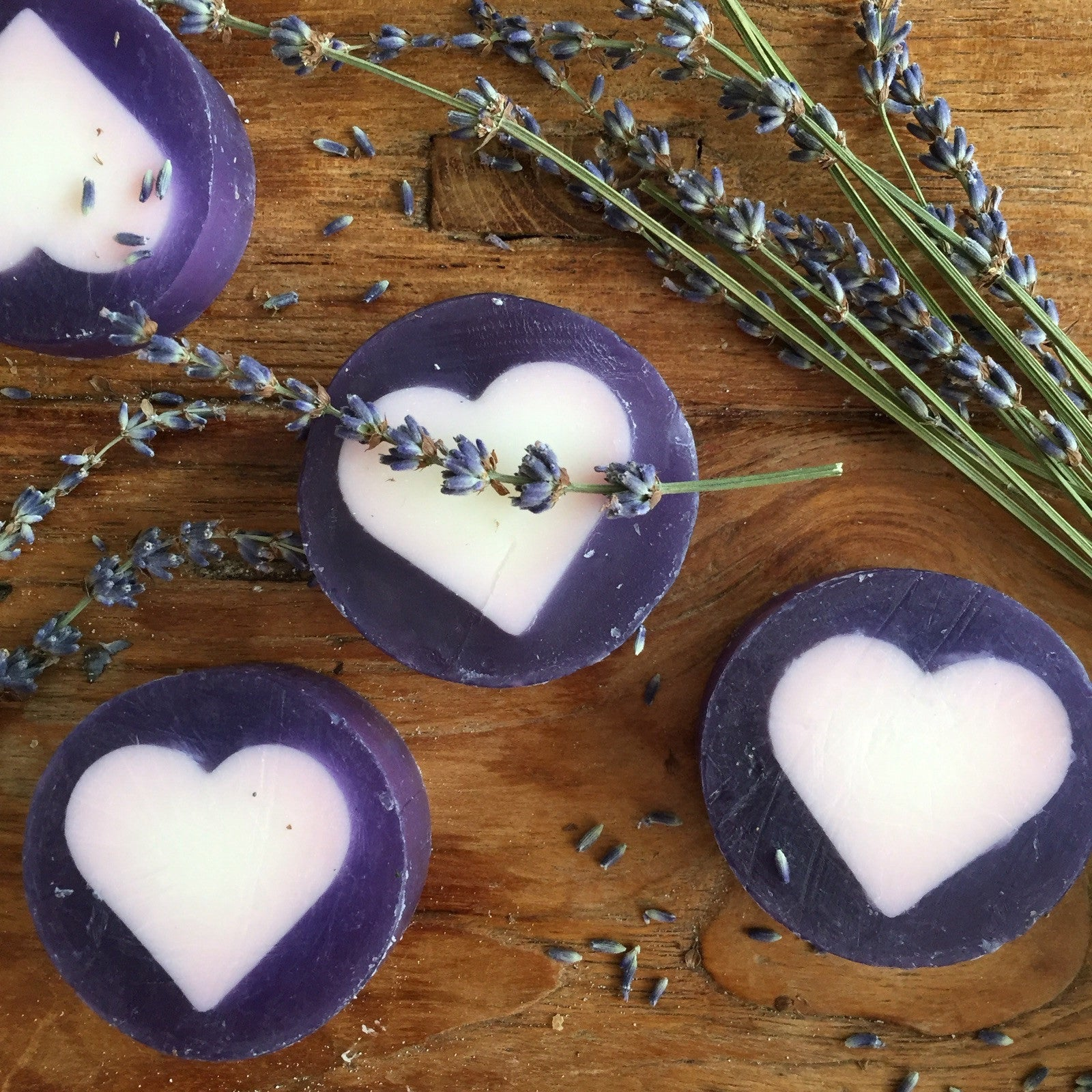 Relax lavender goats milk, manuka honey true love heart soap ...
