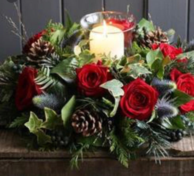 For the table Mabel Christmas flower table arrangement