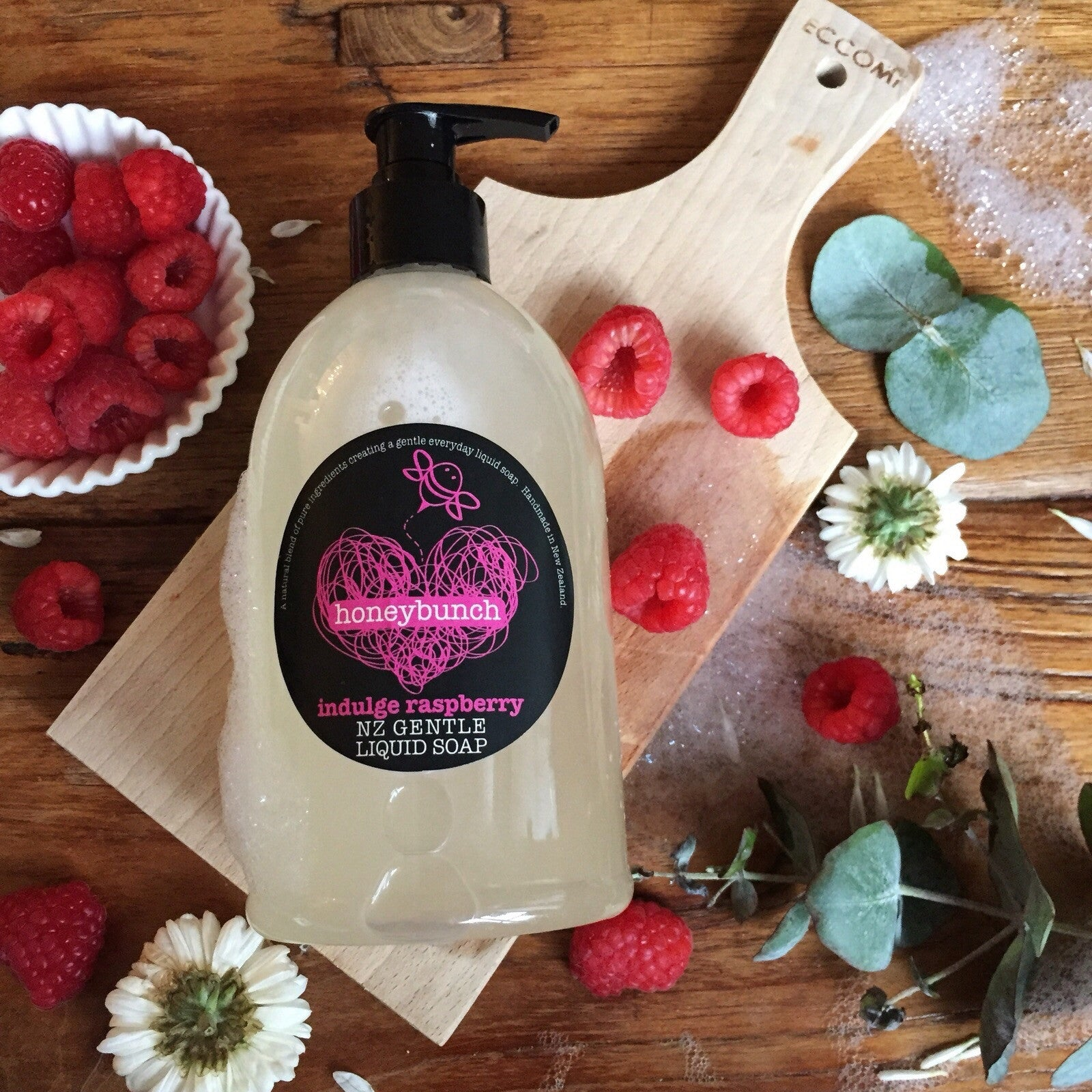 Indulge raspberry liquid soap ..