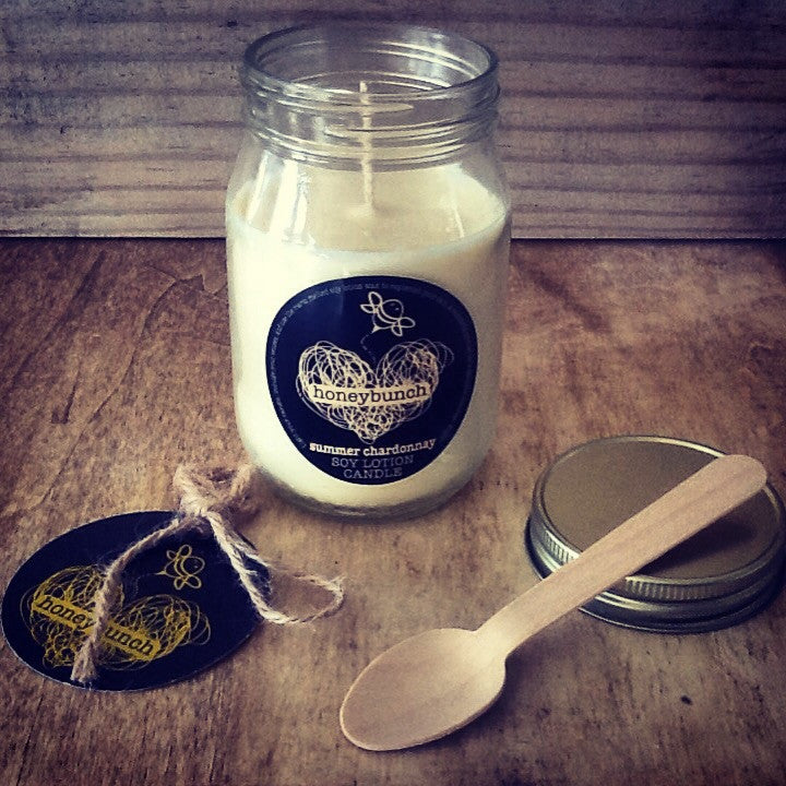 Summer Chardonnay soy lotion candle ...