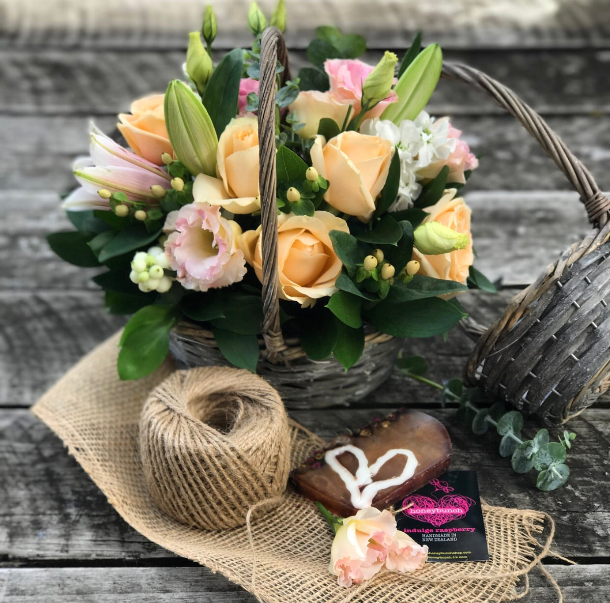 Country Calm flower basket