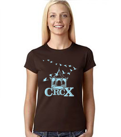 WOMEN'S BROWN or GRAY CRCX T-SHIRT
