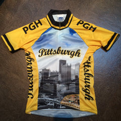 KIDS YELLOW PITTSBURGH CYCLING JERSEY