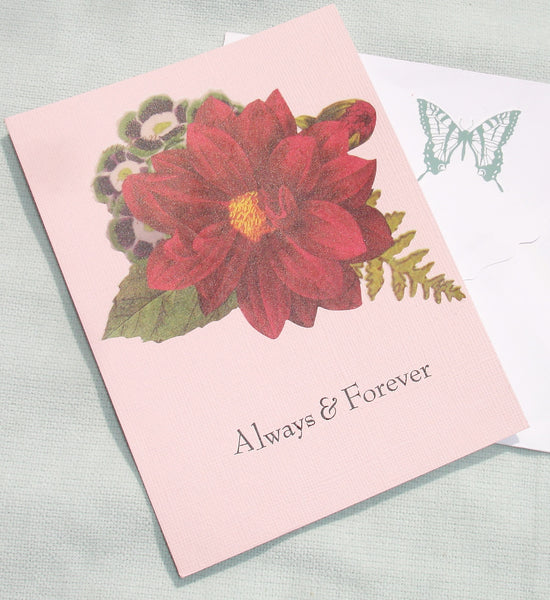 Always and Forever Handmade Greeting Card - OOAK