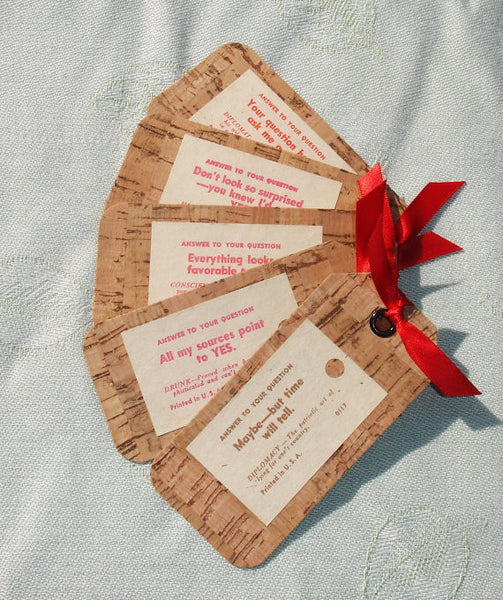 Five Vintage Inspired Magical Fortune Telling Hang Gift Tags - Handmade by Harmonee's Creations