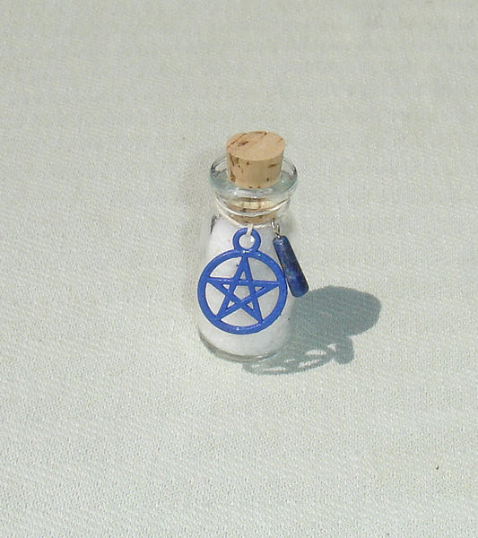 Antique Miniature Glass Bottle with Blessed Salts