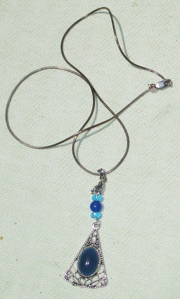 Ornate Gemstone Setting on Sterling Silver Chain