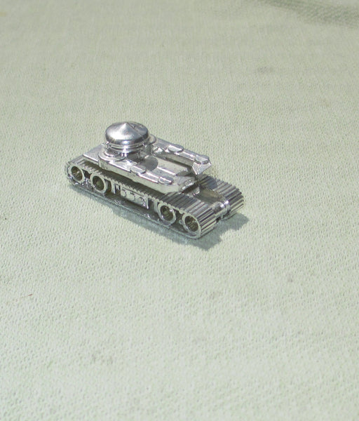 Miniature Silver Plastic Battle Tank
