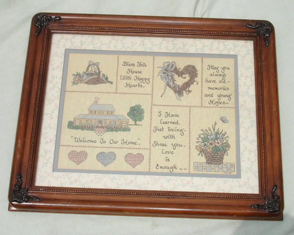 Decorative Wooden Frame with Country Quotes