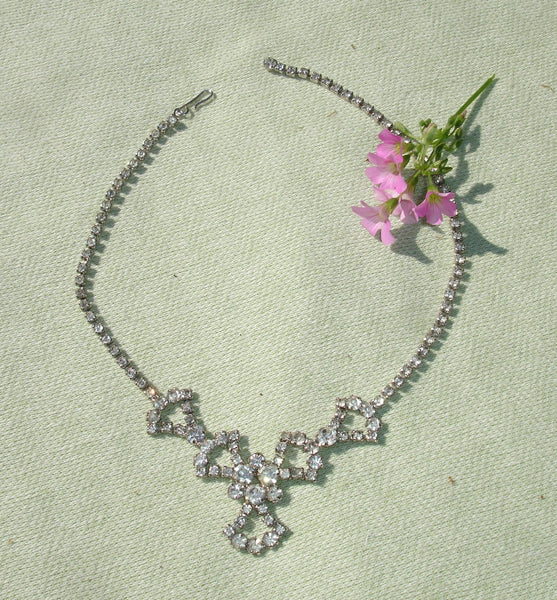 1950's Bright Rhinestone Necklace