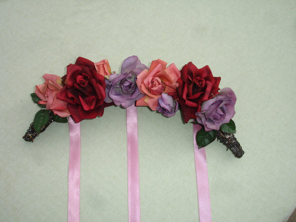 Beautiful Colorful Silk Rose Arch Wreath - Valentine's Day, Wedding Decor