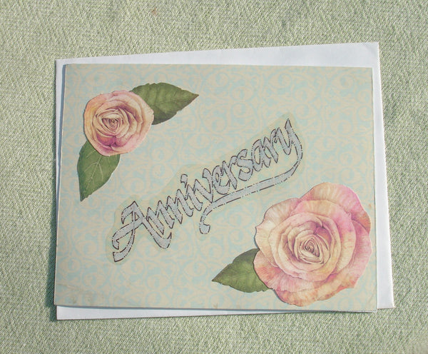 Handmade Anniversary Greeting Card