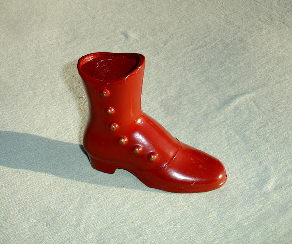 Vintage Small Red Metal Collectible Shoe