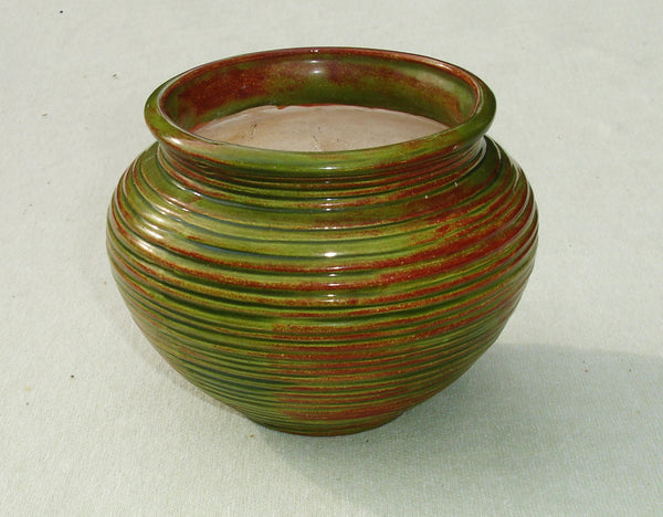 1970's Rustic Green Vintage Flower Pot