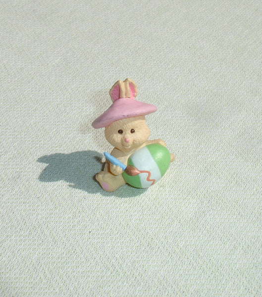 Easter Bunny Rabbit Hallmark Merry Miniature Painting Easter Egg