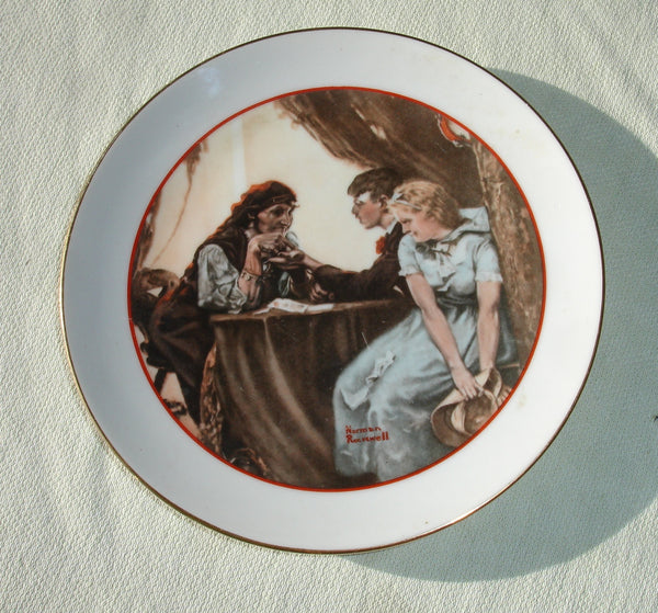 1982 Norman Rockwell Small Collectors Plate -  Fortune Teller