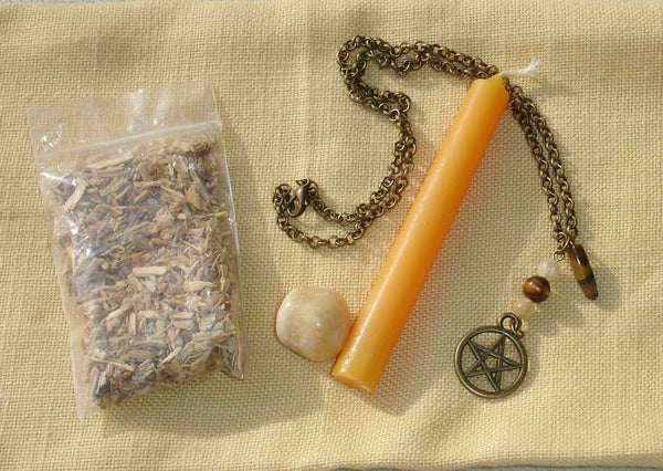 Prosperity Spell Kit with Token Necklace - Everything You Need