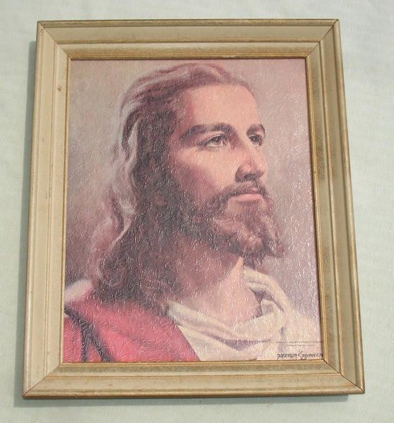 Large Beautiful Jesus Portrait - 1959 Signed