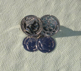 Napoleon French Coin Scarf Clip - Signed Sarah Coventry