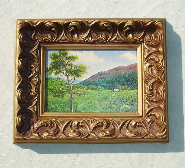 Vintage Golden Plastic Frame with Scenery Print - Intercraft Industries Corp