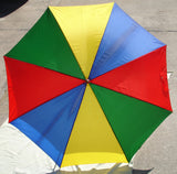 Vintage Table Top Rainbow Umbrella
