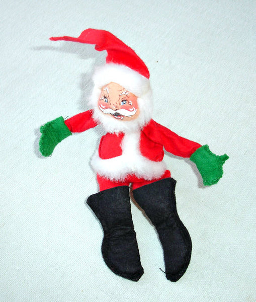 Vintage annalee flexible santa claus doll