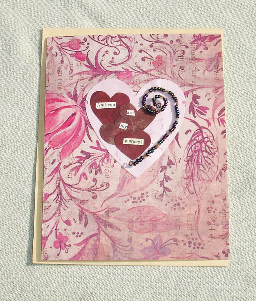 handmade love valentines greeting card