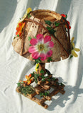 Twig Lamp with Garden Theme