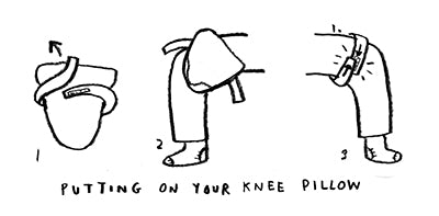 How to put on a knee pillow