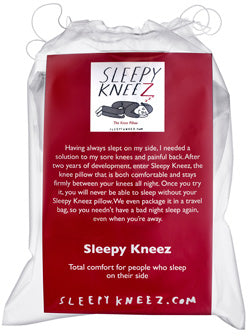 Women sleeping with knee pillow