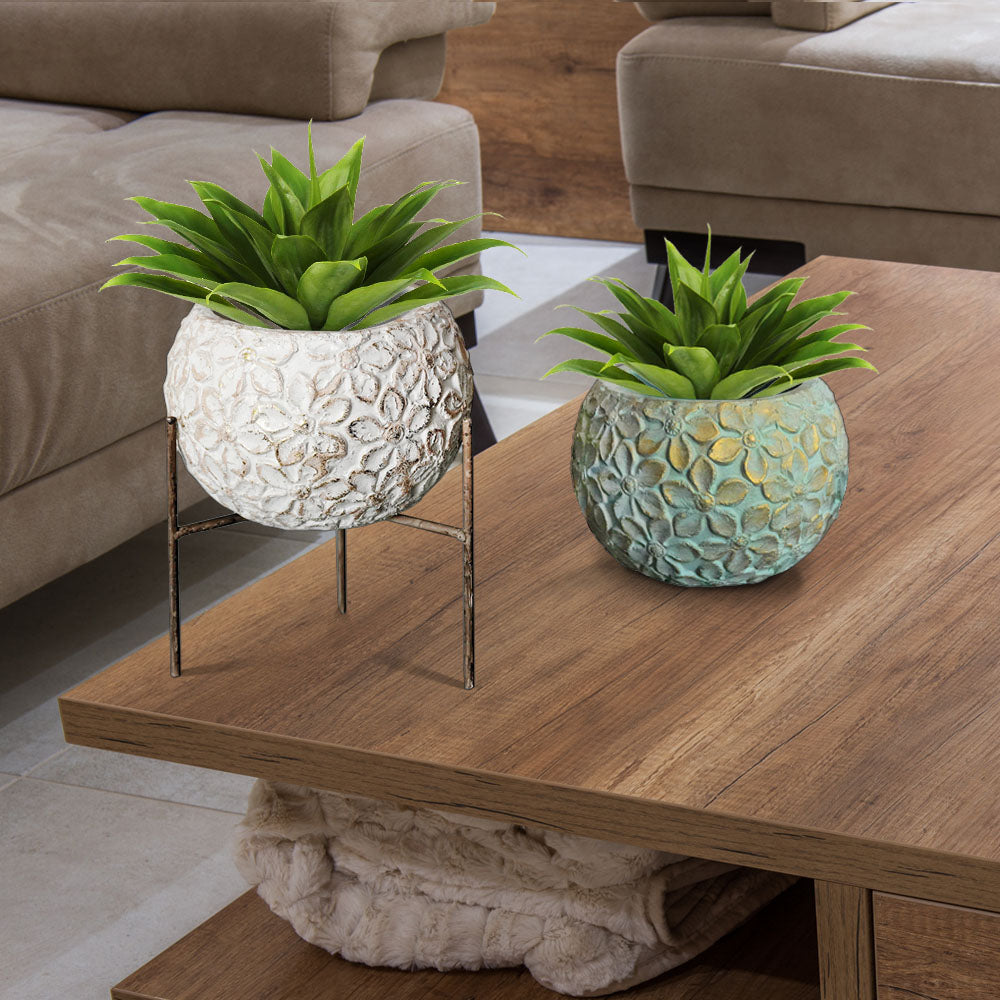 Leaf Planter with Stand