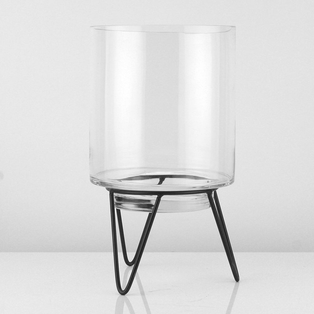 Glass Cylinder on Metal Stand