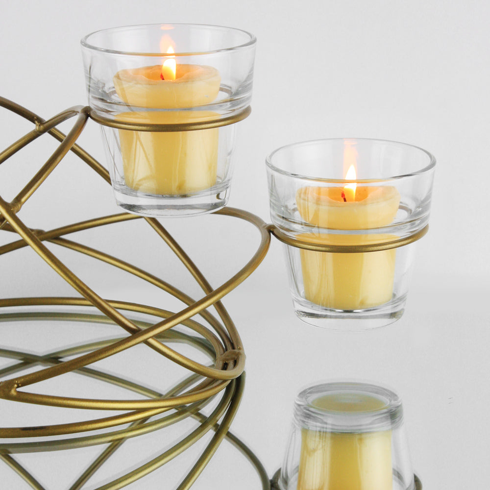 4-Light Ring Candle Holder