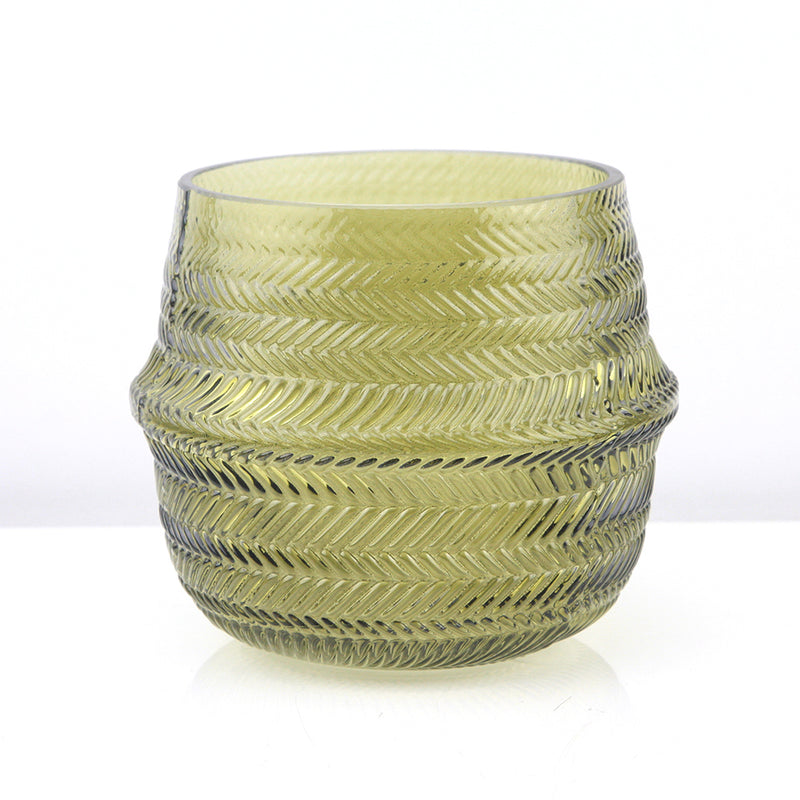 Patterned Glass Planter