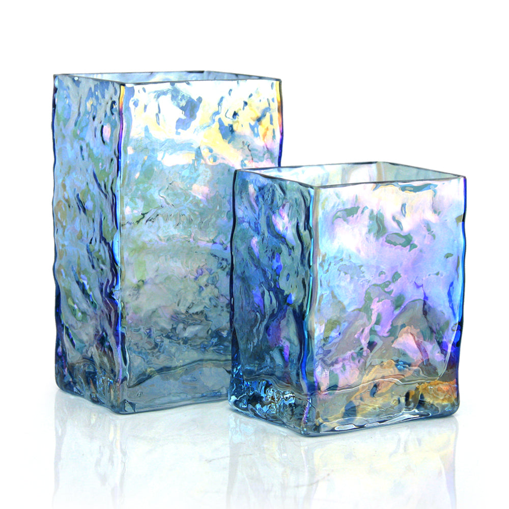 Opalescent Rectangle Vase