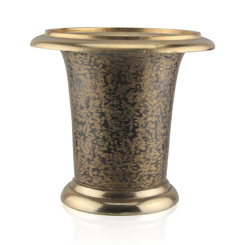 Brushed Brown Gold Vase