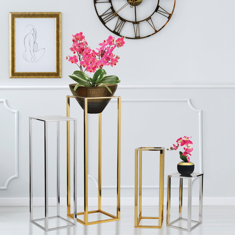Metal Stand Display Pedestal (Electroplated)